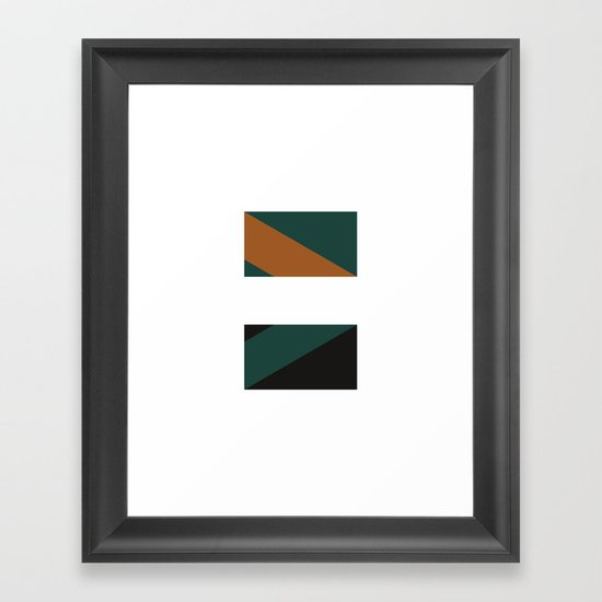 #244 Telepathy – Geometry Daily Framed Art Print