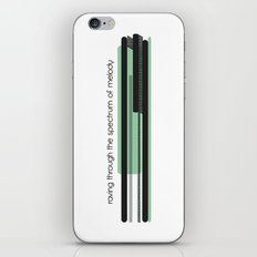 raving through the spectrum of melody iPhone & iPod Skin