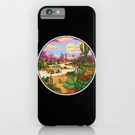 Hippie Van Cactus Desert Drive iPhone Case