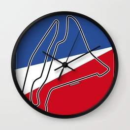 Magny Cours Racetrack  Wall Clock