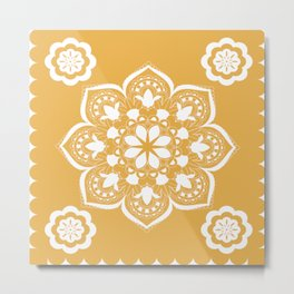 MANTALA YELLOW Metal Print