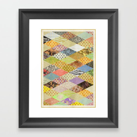 RHOMB SOUP / PATTERN SERIES 002 Framed Art Print