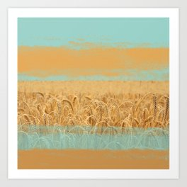 Harvest Landscape Art Print