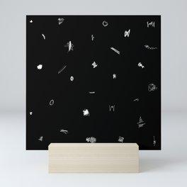 Scribbles Black & White Mini Art Print