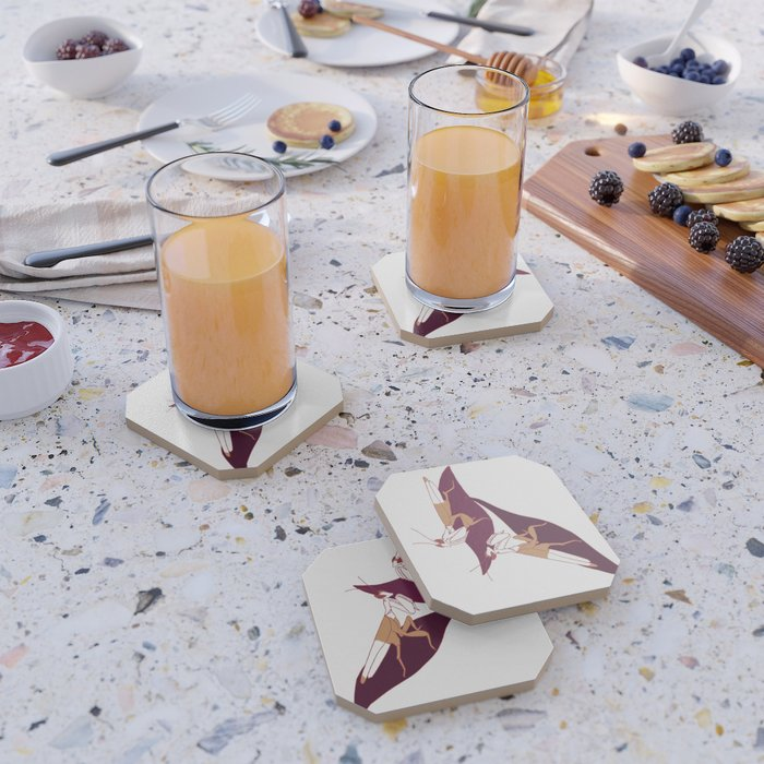 Orchid Mantids Coaster