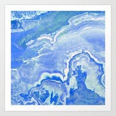Blue onyx Art Print