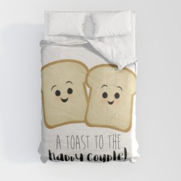 A Toast To The Happy Couple! Comforters