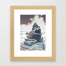 Peak Framed Art Print