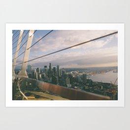Wired Skyline  Art Print