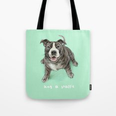 Hug a Staffie Tote Bag