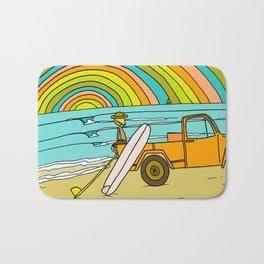 Retro Surf Days Single Fin Pick Up Truck Bath Mat