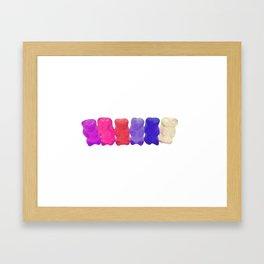 6 bears Framed Art Print