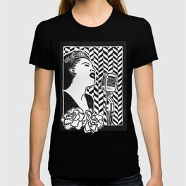 Lady Day (Billie Holiday block print blk) T-shirt