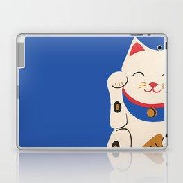 Blue Lucky Cat Maneki Neko Laptop & iPad Skin