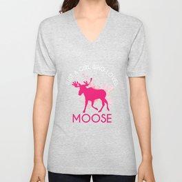 Moose Gift A Girl Unisex V-Neck
