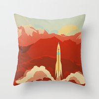uncharted Throw Pillows featuring The Uncharted by Danny Haas
