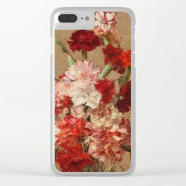 Henri Fantin Latour - Carnations Without Vase Clear iPhone Case