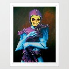 Skeletor Holding A Cat Art Print