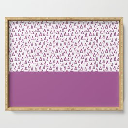 Triangles Purple Serving Tray