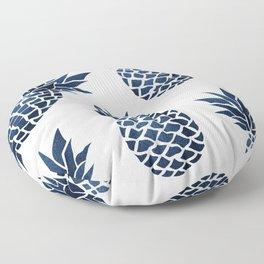 Pineapple Blue Denim Floor Pillow