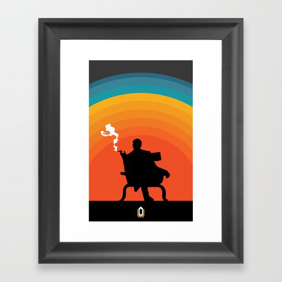 The illusive man Framed Art Print