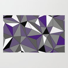 Geo - purple, gray, black and white Rug