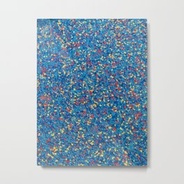 Multicolor rainbow texture Metal Print