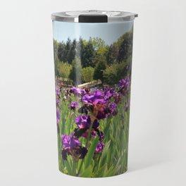 Bearded Purple Iris Travel Mug