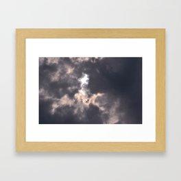 tie dye sky Framed Art Print