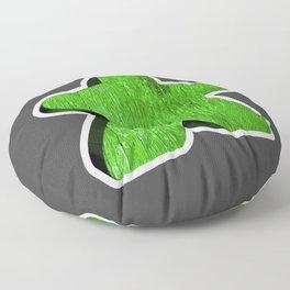 Giant Green Meeple Floor Pillow