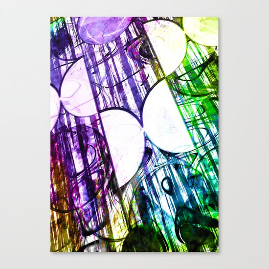 Half circles Canvas Print