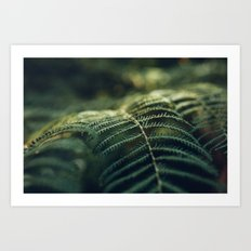 Green and Golden Art Print