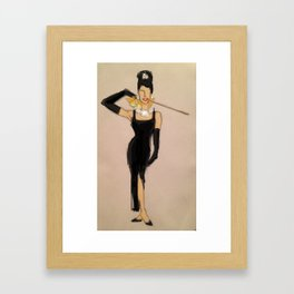 Audrey Hepburn in Breakfast At Tiffany's Framed Art Print