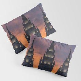 LDS Salt Lake Temple Square Sunset Pillow Sham