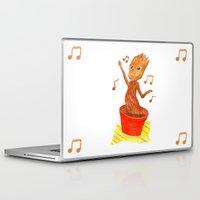 groot Laptop & iPad Skins featuring Baby Groot by gunberk