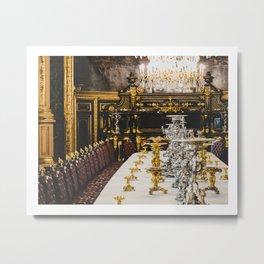Louis XIV Table Metal Print