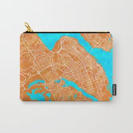 Halifax, NS, Canada, Gold, Blue, City, Map Carry-All Pouch