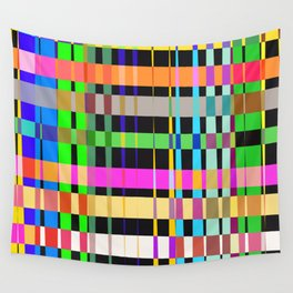 inclined coloured stripes Wall Tapestry