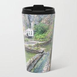 Outside castle walls in Kotor, Montenegro Travel Mug