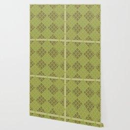 Green Floral Pattern Wallpaper
