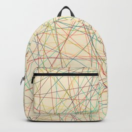 Retro Cholored Line Chaos Backpack