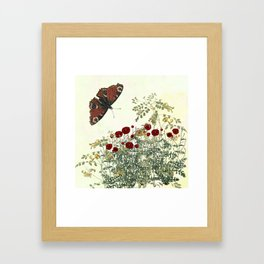 Shaking the wainscot where the field mouse trots Framed Art Print