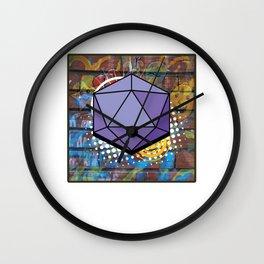 Modern Abstract Geometric Art Icosahedron Isometric 3d Shape Forms Wall Clock