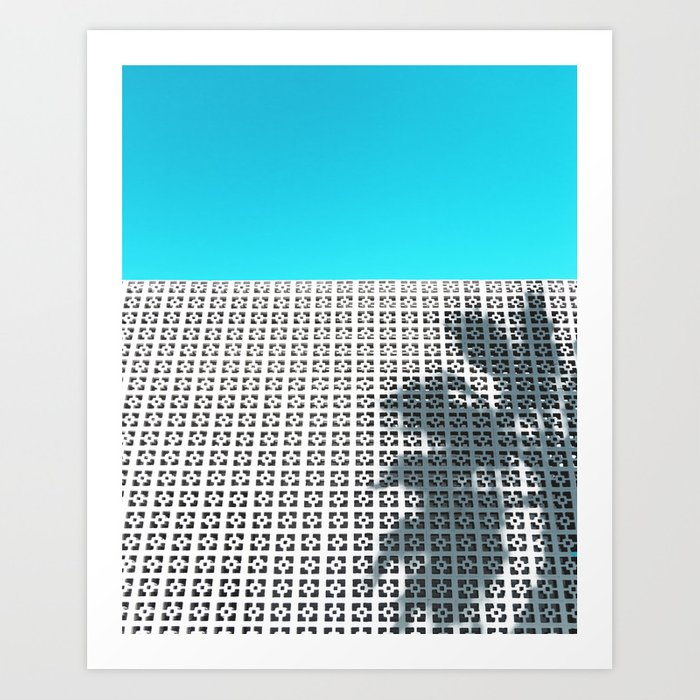Parker Palm Springs with Palm Tree Shadow Art Print
