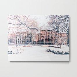 New York City - Winter Metal Print