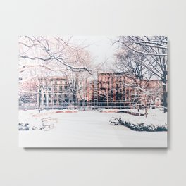 New York City - Winter Metal Print
