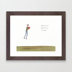 books were his favourite way to escape Framed Art Print