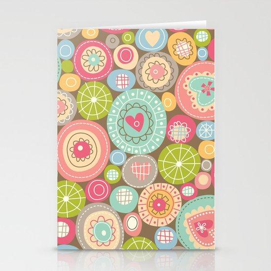 Fun Circles Stationery Cards