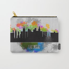 Watercolor art of the Las Vegas skyline silhouette Carry-All Pouch