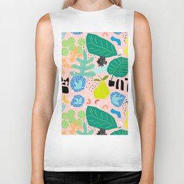 Abstract Orchard Biker Tank